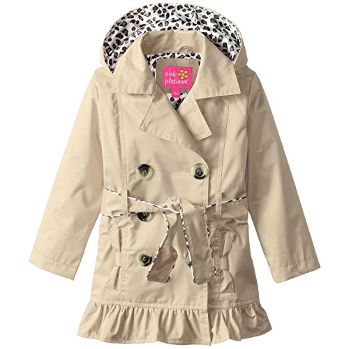 pink platinum trench rain jacket - 4