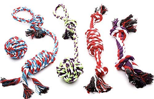 ROPE DOG TOYS FOR SMALL DOGS AND MEDIUM DOGS - BENEFITS NONPROFIT DOG RESCUE - DOG CHEW TOYS FOR SMALL AND MEDIUM BREEDS - COTTON DOG TOYS FOR BOREDOM