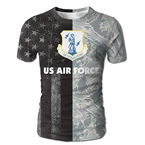 (US Air Force Air National Guard Men's Casual Short Sleeve Tee Shirts White)