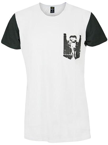 DEATH BY ZERO Hombre Diseñador Shirt Camisetas - DARK ANGELS -M