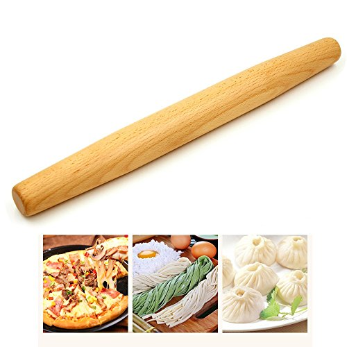 Rolling Pin Wood for Baking Dough,Pies,Cookies,and Pizza.All Natural Handsome and Sturdy.