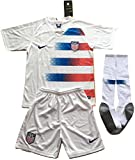 MilkaGGT USA National Team 2018-2019 Youths/Kids Home Soccer Jersey & Socks Set (11-13 Years Old)