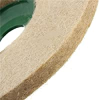 Toolcool 5 Inch Round Polishing Wheel Wool FELT Polishers Pad For Marble Stone Furniture