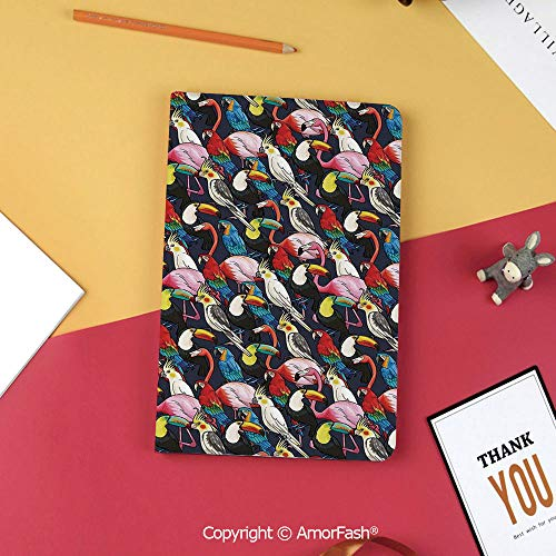 Case for Samsung Tab S3 9.7 SM-T820 SM-T825 Tablet Case Protective Cover Crystal Case,Animal,Colorful Exotic Birds Cockatoo Flamingo Macaw Parrot Toucan Tropic Wildlife Artwork,Multicolor