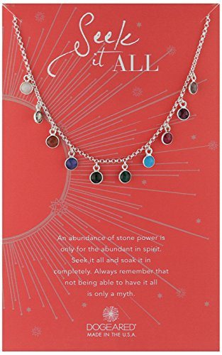 Dogeared Ancient Moon Rising Seek It All, Bezeled Kitchen Sink Silver Chain Necklace, 15