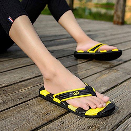 Large Fashion Uomo Yellow Adulti Mare Da Travel Pantofole Casual Infradito Infradito Flip Flop Sandali MERRYHE Estate Da Plus FTgUvva