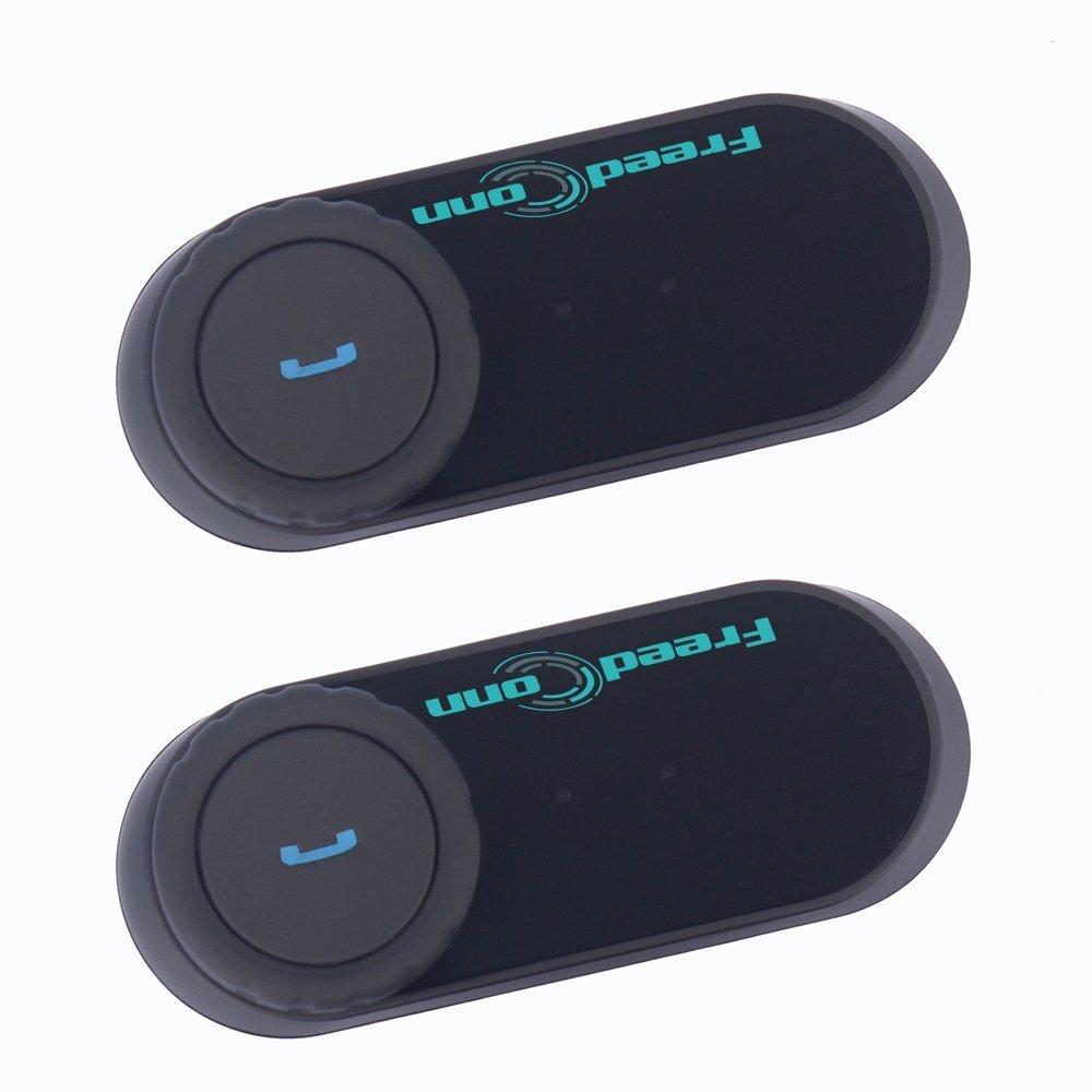 Intercomunicador de Cascos Motocicleta Auriculares Estéreo Inalámbricos Dual Estéreo Bluetooth Interfono Intercom