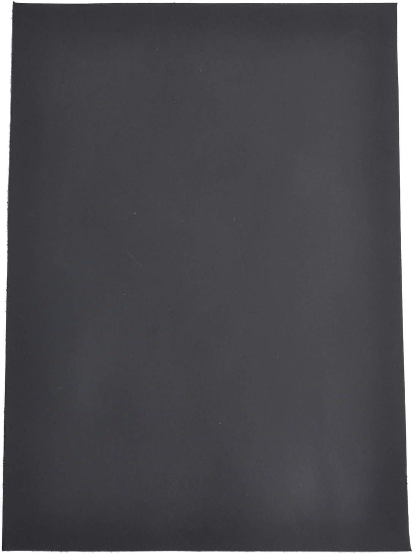 Pieza de piel de b/úfalo con corte de piel de b/úfalo rectangular para manualidades Gusti Vincenzo color negro