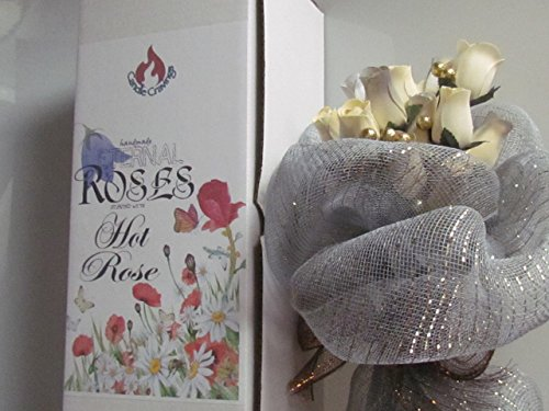 24 Scented White Forever Roses With A Refresher Spray In A Box - Hot Rose Fragrance US Handmade