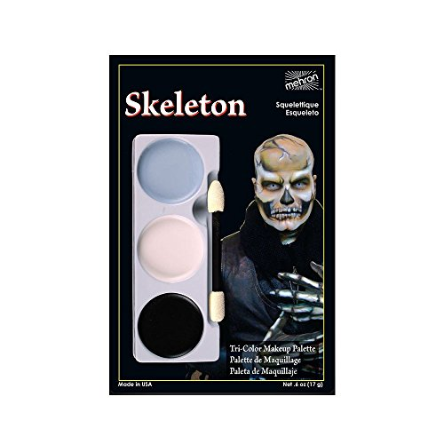 Kid Witch Makeup (Costumes For All Occasions DD451 Tri Color Palette Skeleton)