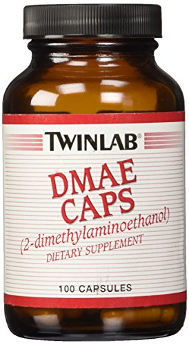Dmae Dimethylaminoethanol 100 Tablets - DMAE (Dimethylaminoethanol) 100mg Twinlab, Inc 100 Caps