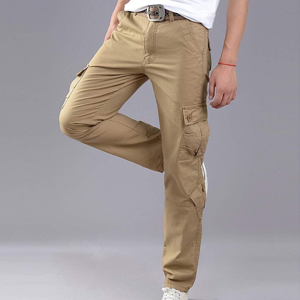 Yying Pantaloni da Combattimento da Uomo Pantaloni da Trasporto Multiplo Pantaloni da Lavoro Cargo da Tasca Pantaloni di Cotone Pantaloni da Campeggio allaperto Pantalone