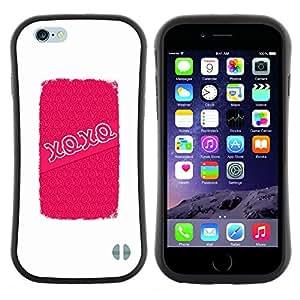"Hypernova Slim Fit Dual Barniz Protector Caso Case Funda Para Apple (5.5 inches!!!) iPhone 6 Plus / 6S Plus ( 5.5 ) [Abrazos Besos de amor de San Valentín blanca""]"