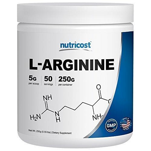 Nutricost L Arginine Pure L Arginine Powder 5g Per Serving