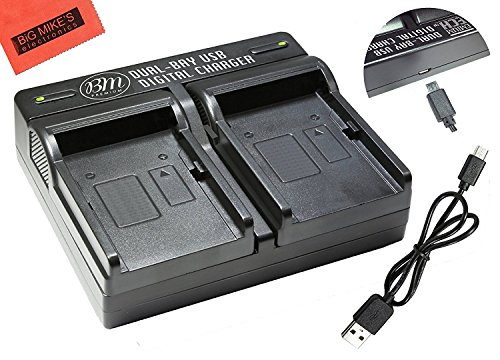 DMW-BLH7, DMW-BLH7e Dual Rapid Battery Charger for Panasonic Lumix DC-GX850, DMC-GM1, DMC-GM1K, DMC-GM1KA, DMC-GM1KS, DMC-GM5, DMC-GM5KK Digital Camera