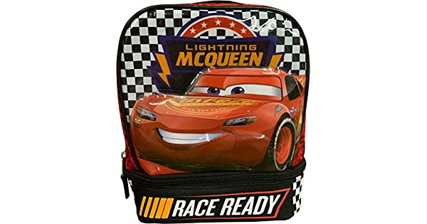 Amazon.com: Disney Pixar Cars 3 Lightning McQueen Lunch Box ...