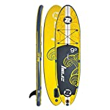 zray X1 All Around Inflatable Stand Up Paddle Board, 9'9'', Yellow