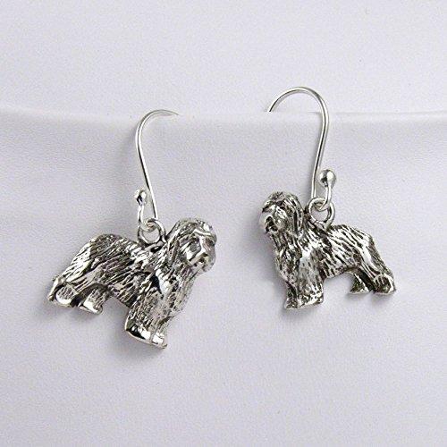 Old English Sheepdog Earrings - Fine Arf Earrings Old English Sheepdog