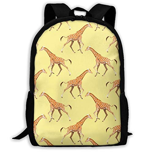 XTGOO Giraffe Yellow Print Adult Backpack Travel Backpack Lightweight Laptop for Men & Women School Bags for Teens Cute Stylish Daypack Backpack 6.3x11x16.9 Inch