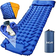 Sleeping Pad for Camping Air Sleeping Bag, Press Inflatable Ultralight and Portable Backpacking Pad for Hiking