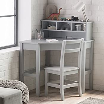 Amazon Com Writing Desk And Stool W White Color Finish