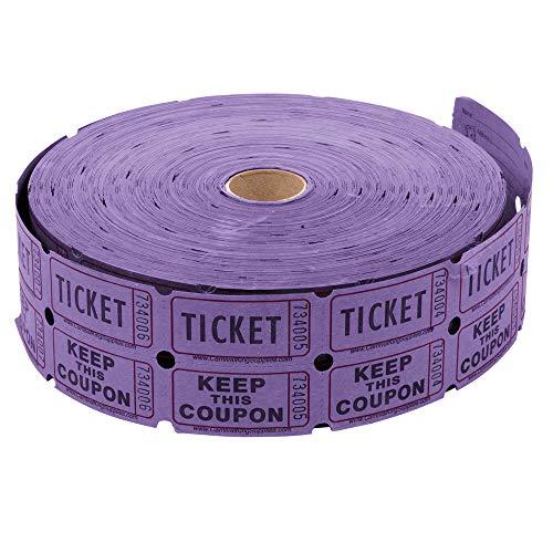 Henry Bookbinding Corp. 25691 Raffle Ticket: Purple Double Roll of 2000 Tickets (Purple) (Purple Roll Of Tickets)
