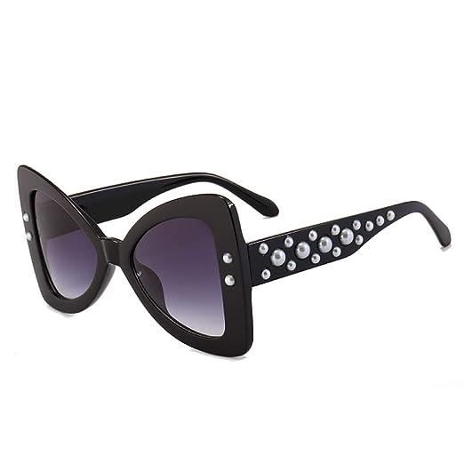 Yangjing-hl Gafas de Sol con Forma de Mariposa Cuentas Patas ...