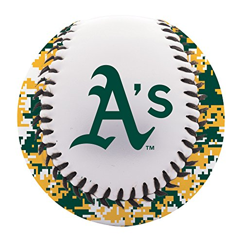 (Franklin Sports Oakland Athletics Baseball Teeball - Soft Strike - Digi Camo Graphic PVC Cover - Soft Core - MLB Official Licensed Product )