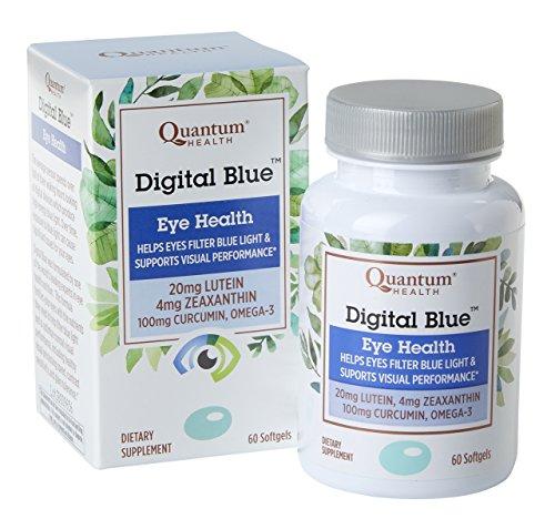 Quantum Health Digital Blue Softgels, Eye Supplement, Blue Light - Lutein, Zeaxanthin, Curcumin, Omega 3, Zinc - 60 Count ()