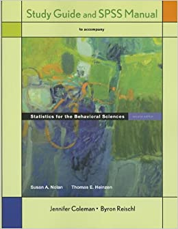Study Guide and SPSS Manual for Statistics for the Behavioral Sciences