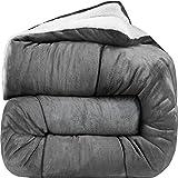 Cheap Comforter Sets Under 30 Utopia Bedding - All Season Alternative Fleece Comforter - Goose Down Sherpa Comforter Queen - Grey
