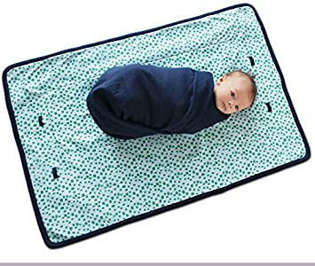 Finn Emma Organic Cotton Play Mat for Baby Boy or Girl Robot Heads