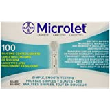 Bayer Contour Bayer Microlet Lancets, 100 Count