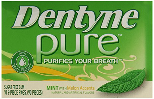 012546308052 - Dentyne Pure Gum Sugar Free Mint with Melon Accents 10 packs (9ct per pack) carousel main 6