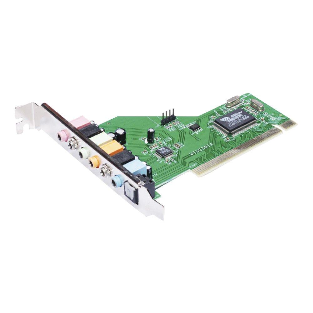 Approx APPPCI71 - Tarjeta de Sonido 32 bit PCI 7.1, Color Plateado y Verde