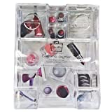 Caboodles Large 11 Compartment Crystal Clear Cosmetic Counter