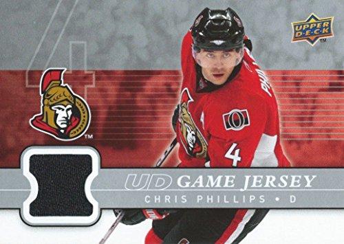 (HCW) 2008-09 Upper Deck Game Jersey CHRIS PHILLIPS NHL Hockey 01235