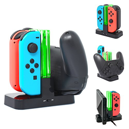 Pro Controller Charging Dock Stand Station for Nintendo Switch,FYOUNG Controller Charger for Nintendo Switch with a Type-C Charging Cable