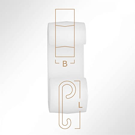 Lysel Kunststoff Expanderdoppelhaken Bxl 20x50mm In Weiß 10 Stück Küche Haushalt