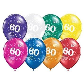10 Qualatex Luftballons 60 Fur Geburtstag Hochzeit Jubilaum