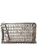 Red Valentino Studded Leather Clutch, Gold