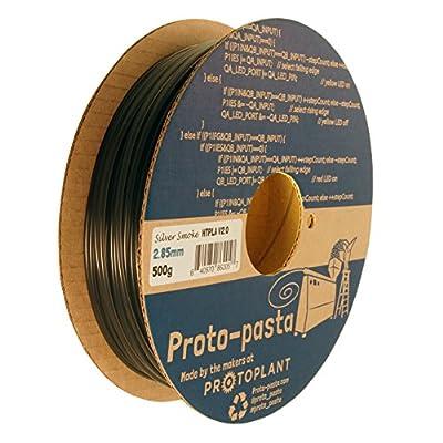 Proto-pasta HTP22805-SMK High Temperature Spool , PLA 2.85 mm, 500 g Silver Smoke, Smoke