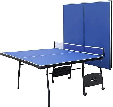 YP Mesa de Ping Pong Plegable Ping Pong Mesa para Interior y Exterior con 4 Tableros Tamaño 274 * 152 * 76CM Hecho de MDF+Metal Color Azul: Amazon.es: Deportes y aire libre