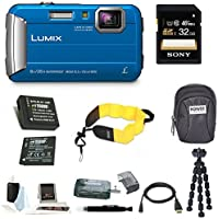 Panasonic DMC-TS30A LUMIX Digital Camera (Blue) with 32GB Accessory Bundle Review Review Image
