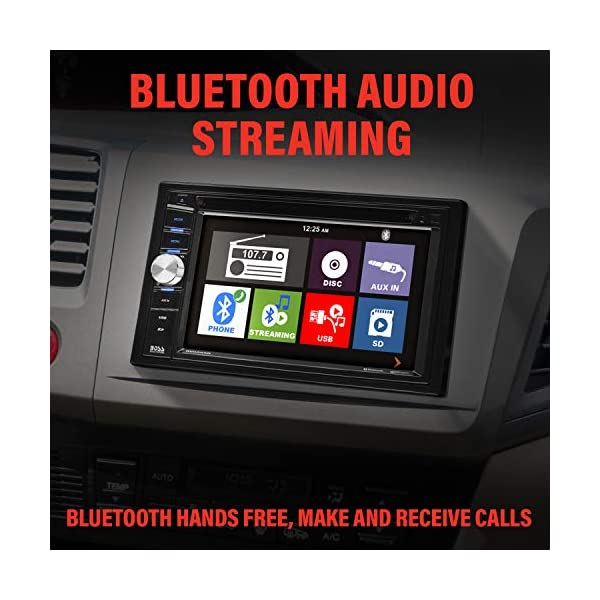 BOSS-Audio-Systems-BV9358B-Car-DVD-Player-Double-Din-Bluetooth-Audio-and-Calling-62-Inch-LCD-Touchscreen-Monitor-MP3-Player-CD-DVD-WMA-USB-SD-Auxiliary-Input-AM-FM-Radio-Receiver