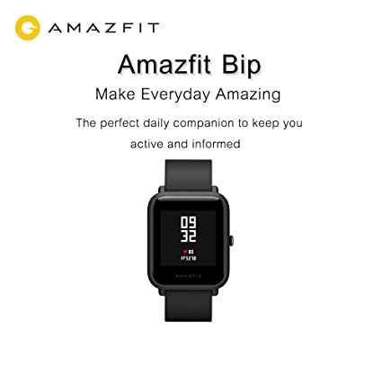 Amazfit Huami Pace Bip Touch Screen Smart Watch with GPS, Fitness Tracker,  Heart Rate and IP68 Professional Waterproof A1608 (Black) - OVIO