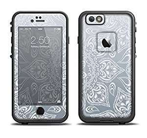 The Intricate White and Gray Vector Pattern Skin Set for the Apple iPhone 6 LifeProof Fre Case (Skin Only)