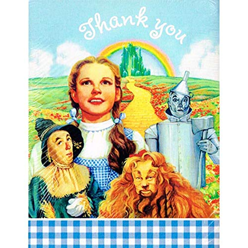 Wizard of Oz Vintage 1997 Thank You Notes w/Envelopes (8ct) ()