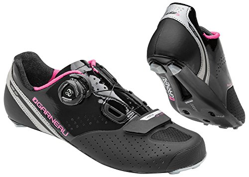 Louis Garneau - Women's Carbon LS-100 2 Bike Shoes, Black/Pink, 38.5 by Louis Garneau (Image #1)