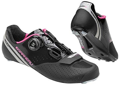 Louis Garneau Women's Carbon LS-100 2 Bike Shoes, Black/Pink, 41 by Louis Garneau